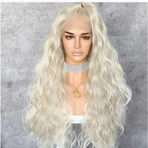 White Blonde Beauty Lace Front Wig